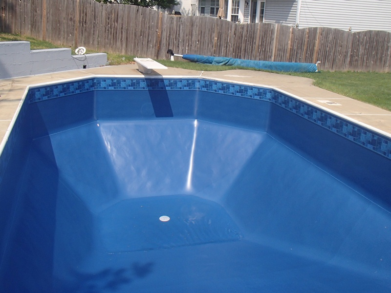 Vinyl pools pool liners pool service pool renovations for Blue pond liner