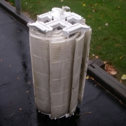 DURING – D.E. filter grids after a thorough cleaning.