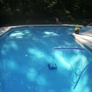 """True Ell Grecian"" vinyl liner pool."