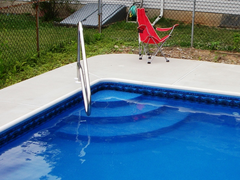 Inground Swimming Pool Corner Steps Bing Images