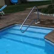 AFTER - Customer choose vinyl liner covered step when doing renovation.