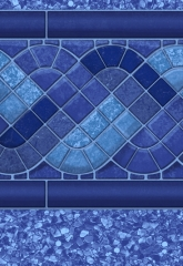 Blue Raleigh Tile<br>Blue Laguna
