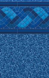 Blue Trinidad Tile<br/>Jamaica Bottom