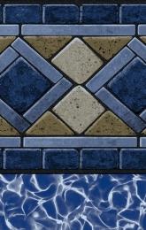Compass Blue Tile<br/>Blue Lagoon Bottom