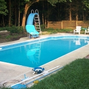 AFTER - Steel wall pool with new vermiculite/hard bottom and new vinyl liner.