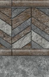 Herringbone Tile<br/>Island Granite Bottom