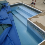 POOL WATER LEVEL LOWER THAN AT CLOSING