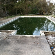 Before I - Old rectangle concrete pool with steps.