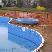 In Progress - Installed spill-over spa.