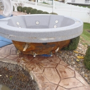 In Progress - Hot tub removed for inspection of plumbing lines and structure.