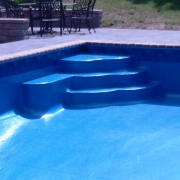 Custom designed liner freeform step.